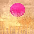 Sunset Abstract Painting by Nhan Ngo