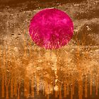Sunset Abstract Painting #2 by Nhan Ngo