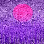 Purple Sunset Abstract Painting by Nhan Ngo