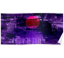 Purple Sunset Abstract Painting #2 Poster