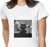 SPOOKY CAT Womens Fitted T-Shirt