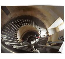 Staircase Phare de Baliene, Ile de Re, France Poster