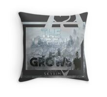 The Legend Yet Grows Throw Pillow