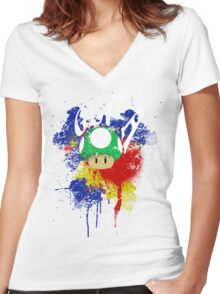 Get a Life Women's Fitted V-Neck T-Shirt