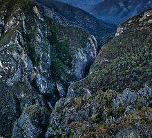 Bungonia Gorge Moonrise Sunset by Ian English