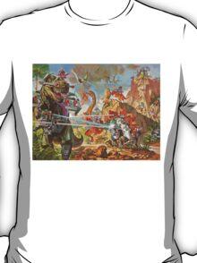 Epic Dinosaur Laser Battle T-Shirt
