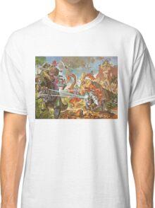 Epic Dinosaur Laser Battle Classic T-Shirt