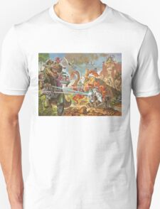 Epic Dinosaur Laser Battle Unisex T-Shirt
