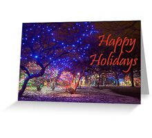 Happy Holidays Zoo Lights Greeting Card