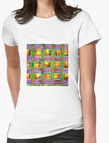 Light behind colourful geometric Windows Womens Fitted T-Shirt