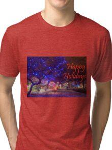 Happy Holidays Zoo Lights Tri-blend T-Shirt