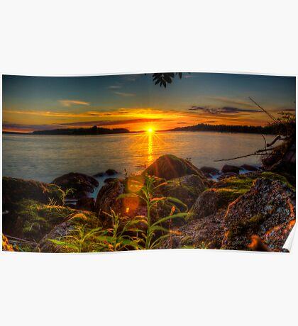 Midnight sun, as seen on Tantti Island Poster