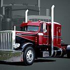 """""""Miss Behavin"""" 1990 Peterbilt Semi Truck by TeeMack"""