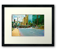 ...the morning commute......Toronto....... Framed Print