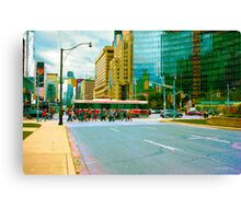 ...the morning commute......Toronto....... Canvas Print