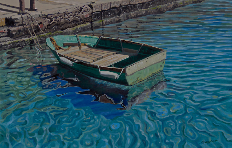The old green boat by Freda Surgenor