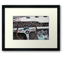 Iso Grifo Targa Bertone dashboard (1970) Framed Print