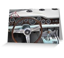 Iso Grifo Targa Bertone dashboard (1970) Greeting Card