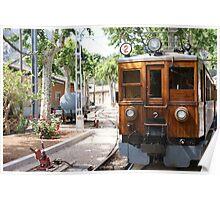 Majorcan tram yard Poster