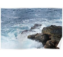 Hawaii Volcanoes National Park Waves Poster
