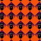 Little Owls Halloween Pattern by BamaBruce69
