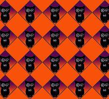 Little Owls Halloween Pattern by BamaBruce69
