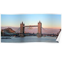 HDR of London Bridge During the London 2012 Games Poster