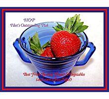 Banner - Best Fresh Berries, Fruits & Vegetables - HOP (Host's Outstanding Picks) Photographic Print