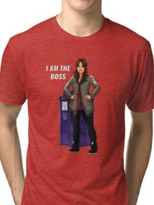 Clara Oswald - I Am The Boss Tri-blend T-Shirt