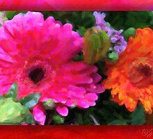 Birthday-bouquet Bookshelf 02 by Karen  Securius