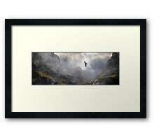 Young Male Hunting. Framed Print