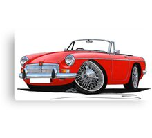 MG B Roadster Red Canvas Print