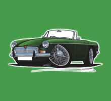 MG B Roadster British Racing Green One Piece - Short Sleeve