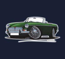 MG B Roadster British Racing Green Kids Tee