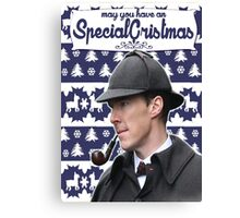 Sherlock Xmass Canvas Print