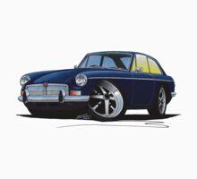 MG B GT Dark Blue by Richard Yeomans