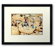 Playing basketball on cookies II Framed Print