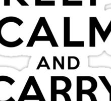 Keep calm and carry your groceries Sticker