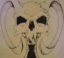 Daemon Skull by dragonmojo