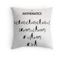 99 Steps of Progress - Mathematics Throw Pillow