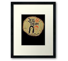 Jess & Thom  Framed Print