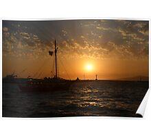 Mykonos Sunset II Poster