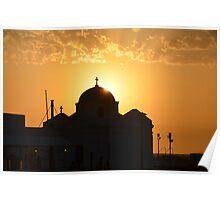 Mykonos Sunset III Poster