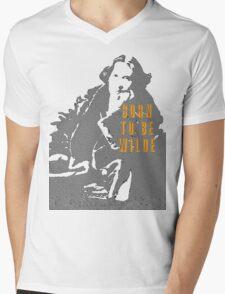 Lady Oscar Wilde Mens V-Neck T-Shirt