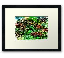 Green Dominant Framed Print