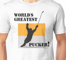 "Hockey ""World's Greatest Pucker!"" Unisex T-Shirt"
