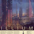 Mass Effect Illium Vintage Poster by Titch-IX