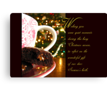 Quiet Moments Christmas Wish - Greeting Card Canvas Print