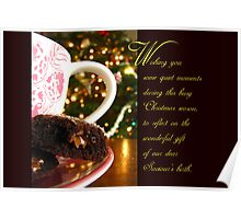 Quiet Moments Christmas Wish - Greeting Card Poster
