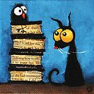 Tower of books by StressieCat